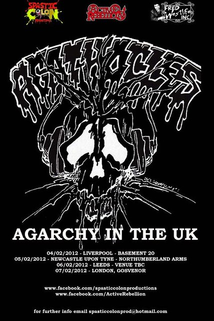 Agathocles UK tour 2012 leeds newcastle liverpool london grind metal gigs gig listings