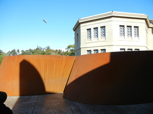 Steel Sculpture by Richard Serra, Cantor Arts Center, Stanford University _ 8339