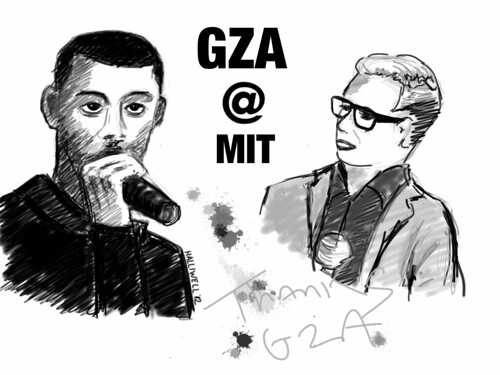 GZA@MIT, iPad sketch courtesy of Gary Halliwell