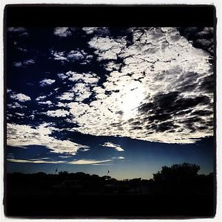 Skies above