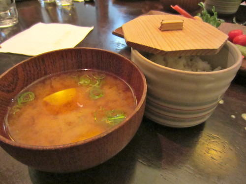 Ha-Lu Miso Soup and Rice