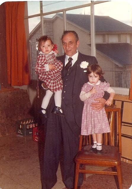 paula e máis eu co avó Sindo