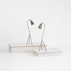 Greta Magnusson Grossman Grasshopper floor lamps, pair