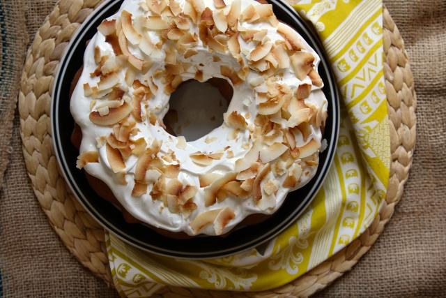 white bean cake