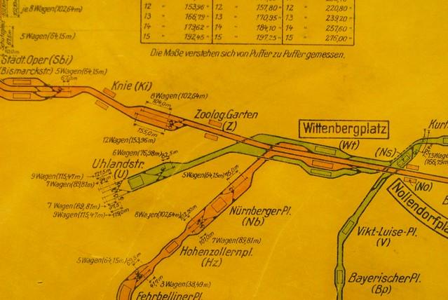 Track diagram, Berliner U-Bahn Museum