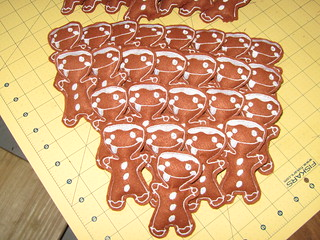 Gingerbread men for the play food swap