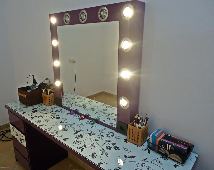 Espejos con luz para tocador espejo luz de la lmpara de - Espejos de tocador con luz ...
