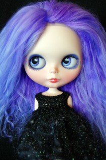 Shoot For The Moon Custom #33 ~ Handpainted Purple Eyes