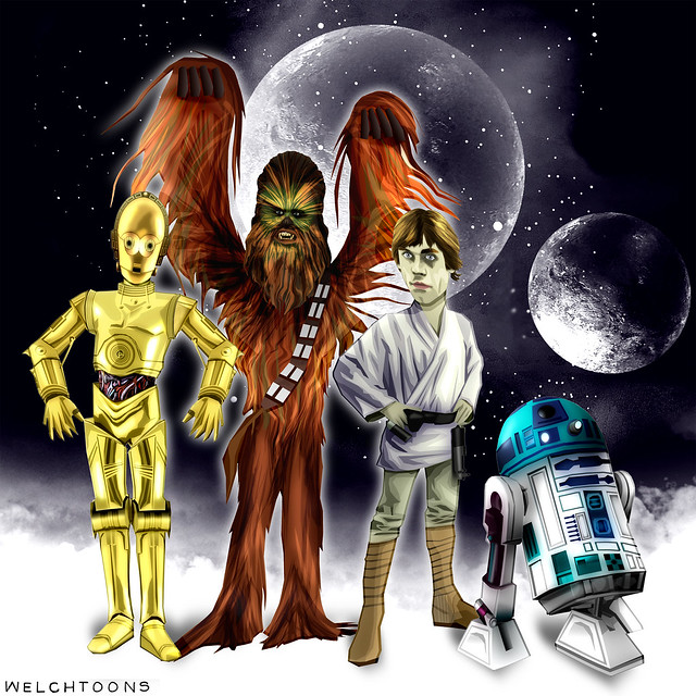 A long time ago in a welchtoons far, far away...