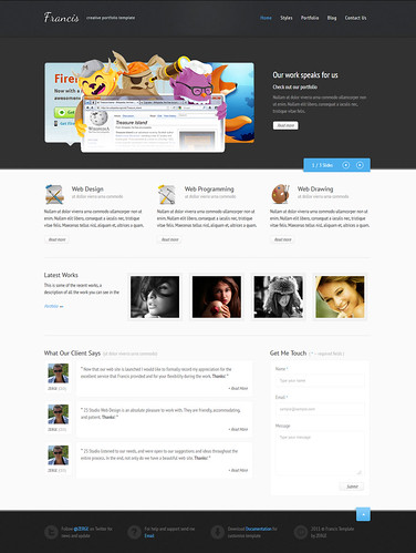Francis - HTML5 CSS3 Template by ZERGE_VIOLATOR