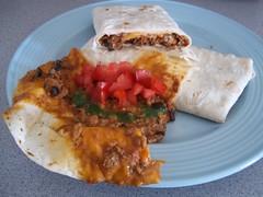 bread(0.0), baked goods(0.0), meat(0.0), sloppy joe(0.0), produce(0.0), meal(1.0), breakfast(1.0), flatbread(1.0), vegetarian food(1.0), tortilla(1.0), food(1.0), dish(1.0), quesadilla(1.0), cuisine(1.0), burrito(1.0),