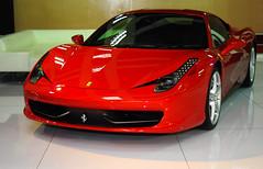 automobile(1.0), vehicle(1.0), ferrari 458(1.0), performance car(1.0), automotive design(1.0), bumper(1.0), land vehicle(1.0), luxury vehicle(1.0), coupã©(1.0), sports car(1.0),