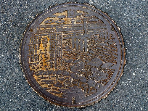 Misasa Tottori manhole cover (鳥取県三朝町のマンホール)
