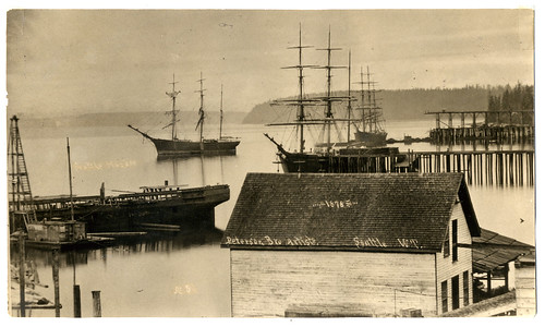 Seattle Harbor (Elliot Bay), 1878 (Taken from the foot of Cherry street) by crackdog