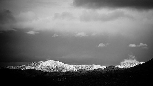 blackandwhite snow clouds 16x9 santacatalinamountains cinemaratio