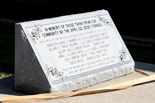Newbern April 2006 Tornado Memorial