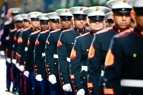 Marines march in 2011 New York Veterans Day Parade [Image 1 of 10]