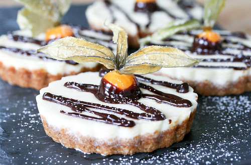 Clementine Tarts with Chocolate & Physalis