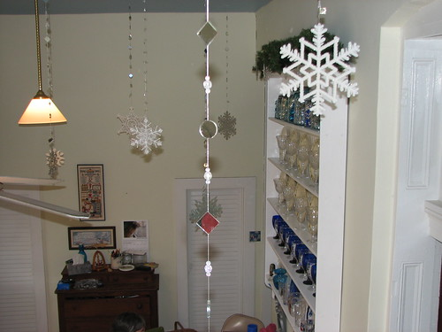 ceiling snowflakes in the kitchen