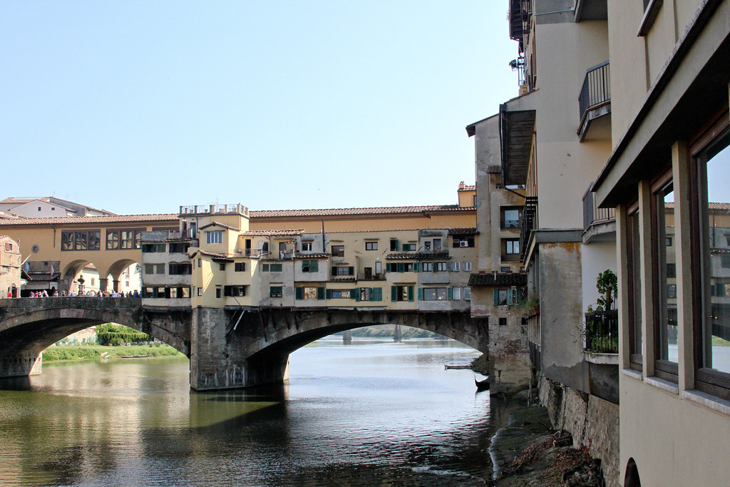 View of Ponte Vecchio at lunch Il Ristoro