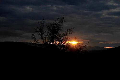 soleil nuages paysages couchant