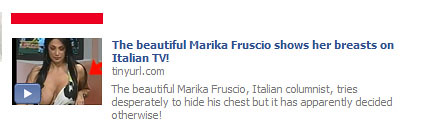 Marika Fruscio Shows Breasts on Italian TV | Facebook Scam