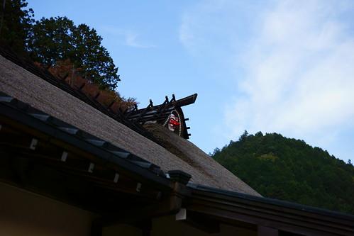 屋根の天狗