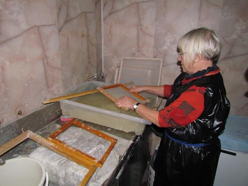 Turi Gramstad Oliver making paper