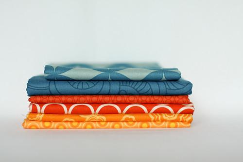 Blue, Red-orange, Yellow-orange by jenib320