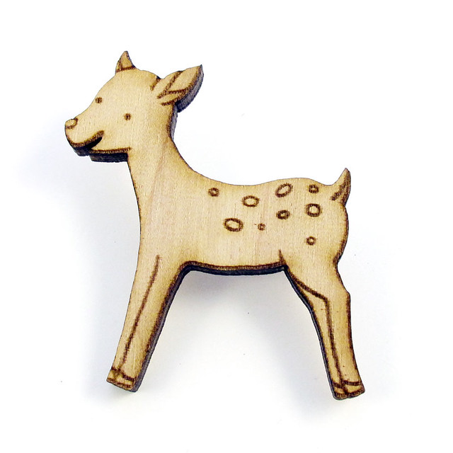 Forest Fawn Wood Pin1