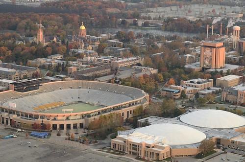 30october2011 2011 universityofnotredame aerial scenic notredame