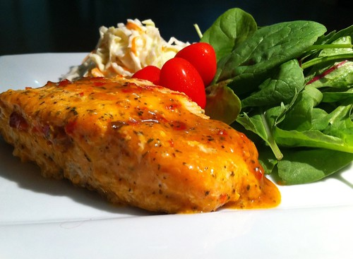 Steam baked Salmon in Sweet Chili & Lime by mjd-s