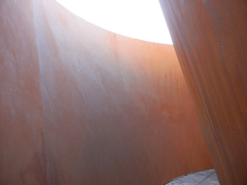 Steel Sculpture by Richard Serra, Cantor Arts Center, Stanford University _ 8346
