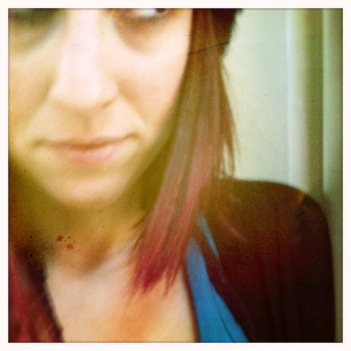 Pink hair...