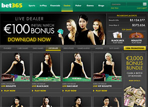 Bet365 Live Casino Home