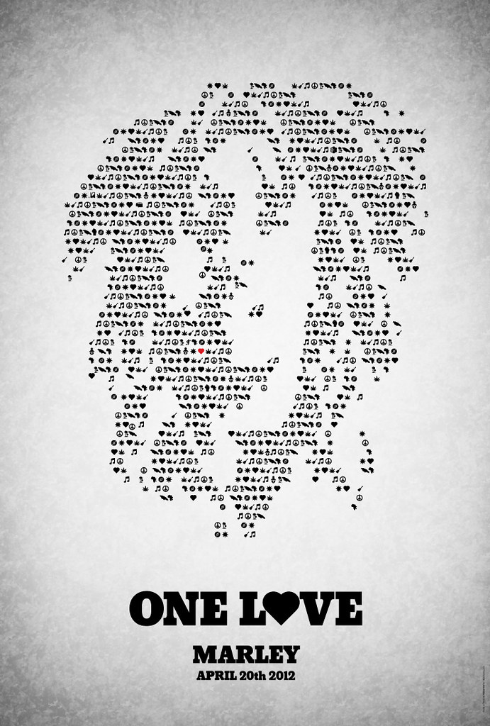 'One love' - poster for 'Marley'