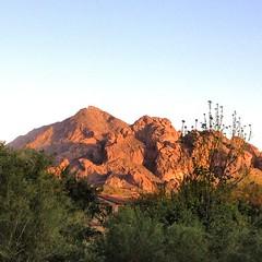 Sun setting on the mountain