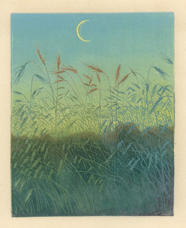 Artur Illies. Mondaufgang (Moonrise). Color Etching with Aquatint. Pan. Vol. II, no. 4.  Berlin, 1896.