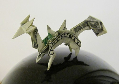 Money Origami Stegosaurus - Dollar Bill Dinosaur | Money origami ... | 354x500