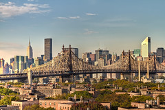 Queensboro bridge in front of the NYC skyline.