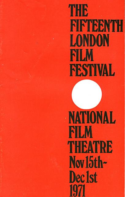 1971 London Film Festival Poster