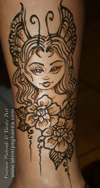 Henna Tattoo Winnipeg : Fairy fae tattoo winnipeg henna flickr photo sharing