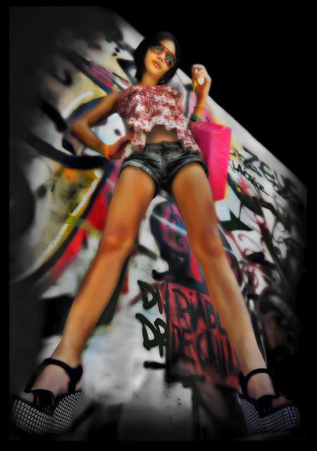 Urban Graffiti Model Shoot. by Ben Hodson (HDR Tone Mapping)