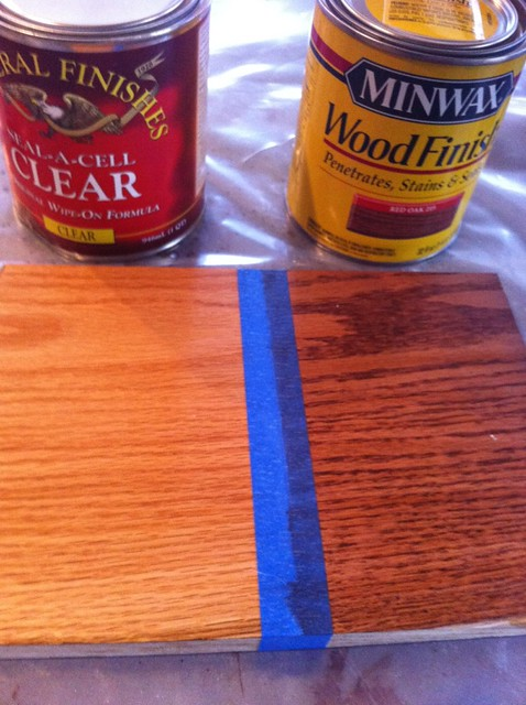 Seal a cell or minwax red oak stain flickr photo sharing