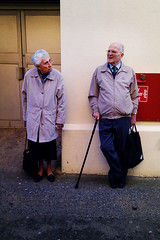 Photograph: Untitled Candid Street Portrait #16; Bristol, October 2011. By Simon Holliday.