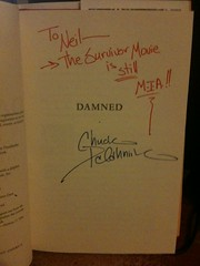 My Signed Copy of Damned