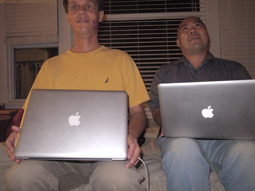 Daniel and Me with Our MacBook Pros