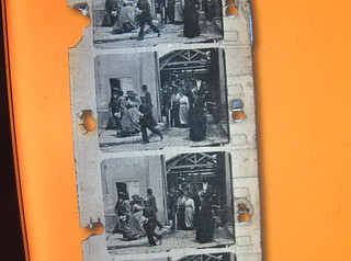 A film strip for restoration at the NFSA