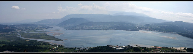 A Guarda: View of river Miño estuary from Mount Tecla.