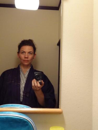 Awesomely terrible shots of me in a yukata - Kawaguchi Ryokan - Miyagima by girl from finito